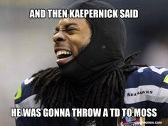Richard Sherman Seattle Seahawks interception