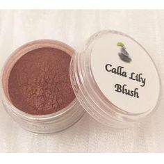 Our best-selling blush shade, Calla Lily! Get yours today!   A dark pink shade with plum and mauve undertones, with just a touch of shimmer.   Remember, all Blissful Minerals products are vegan and Leaping Bunny certified to be cruelty free ❤️