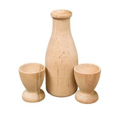 Good Milk and Cups Wooden Play Set