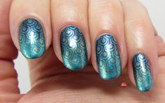 Blue Peacock Nails for Blue Friday #10