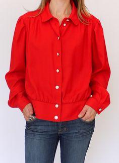 Vintage seventies blouse @ www.secondhandnew.nl