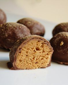 Cast Sugar: Peanut Butter Balls2 c. crushed graham crackers 2 c. powdered sugar 2 c. peanut butter (creamy or chunky, your choice) 1/4 c. butter (barely melted in the microwave) Dipping chocolate