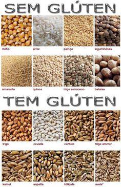 As farinhas listadas abaixo são alternativas para a farinha de trigo.