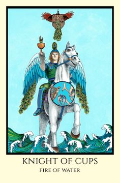 Knight of Cups Tarot Card Decks, Tarot Cards, Knight Of Cups Tarot, Major Arcana Cards, Online Tarot, Color Scale, Hero's Journey, Tarot Readers, Oracle Cards
