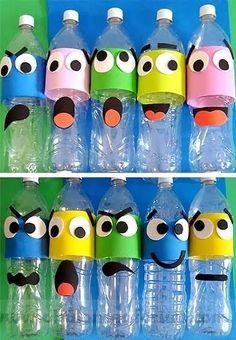 Fall crafts for kids, diy for kids, kids crafts, plastic bottle Kids Crafts, Bear Crafts, Fall Crafts For Kids, Preschool Crafts, Diy For Kids, Diy And Crafts, Animal Crafts, Diy Pour Enfants, Plastic Bottle Crafts
