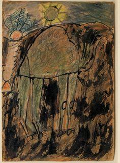 Chameau et soleil, 1948  JEAN DUBUFFET