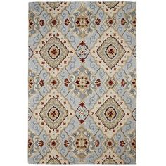 pier One Blue Diamond Scroll Rug - This is the rug your loved.  Largest is a 6x9  we could make it work.  I think you loved it so much we should think about getting it.