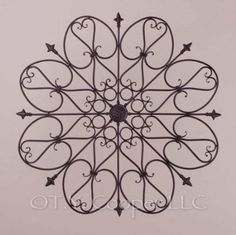 Wrought Iron 30 Round Wall Décor Grille
