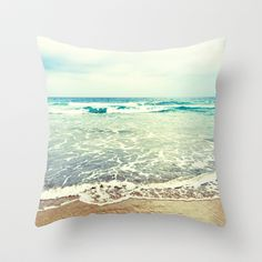 Oh, the sea, the sea... Throw Pillow Cover by Lisa Argyropoulos - $20.00