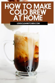 How To Make Cold Brew Iced Coffee - Lexi's Clean Kitchen Easy Drink Recipes, Healthy Cookie Recipes, Healthy Cookies, Coffee Recipes, Paleo Recipes, Delicious Recipes, Snack Recipes, Cold Brew Iced Coffee, Making Cold Brew Coffee