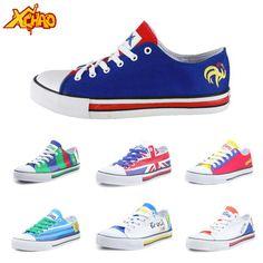 Flag canvas shoes