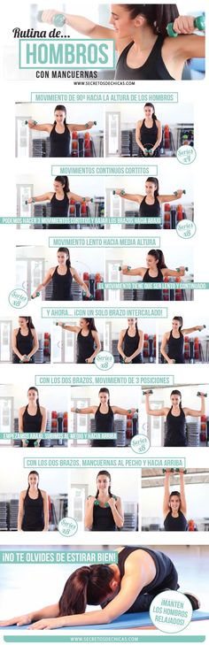 Logra unos hombros seductores con esta rutina de #ejercicios!