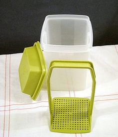 Tupperware pickle keeper.  i still use one, actually very helpful