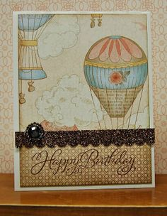 card by Lynn Darda using CTMH Balloon Ride paper.... (change sentiment)