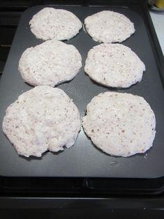 Hamburger buns ready to go into the oven to bake.