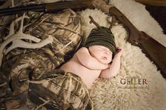 deer hunting newborn photography