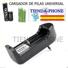 Universal Cargador Pilas 18650 para  Recargable Baterías 3.7V  14500 16340 AA