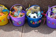 Mitgebsel für Kindergeburtstag im Garten - Strandeimer