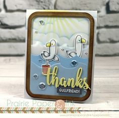 Amy Rysavy | thanks | MFT Seaside Seagulls | Color Throwdown #442
