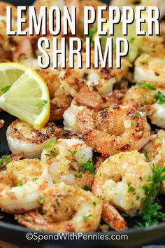 pepper shrimp is deliciously fresh and juicy, whether they're grilled or pan-fried. They're perfect for tacos or stir fry!Lemon pepper shrimp is deliciously fresh and juicy, whether they're grilled or pan-fried. They're perfect for tacos or stir fry! Pan Fried Shrimp, Fried Shrimp Recipes, Shrimp Dishes, Fish Recipes, Seafood Recipes, Peeps Recipes, Shrimp Stir Fry, Fish Dishes, Quick Dinner Recipes
