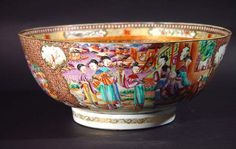 A Fine Chinese Export Famille Rose Mandarin Bowl, Circa 1775