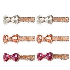 Jaciya 6 Pack Crystal Hair Clips Classic Rhinestone Bow-tie Salon Hair Clip Barrette Hair Accessories, 3 Colors (Color * Read more at the image link. Hair Care Routine, Hair Care Tips, Hair Barrettes, Hair Clips, Pearl Headpiece, 6 Pack, Rhinestone Bow, Image Link, Hair Accessories