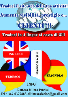 Choose to translate you web site in 4 languages: promote your company, get new clients and save money!
