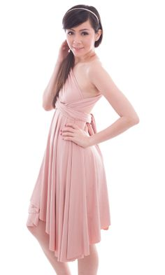 Gina and Jade? Alexis Convertible Multiway KneeLength Dress by ThreeFrocks,Can be worn in loads of different ways?