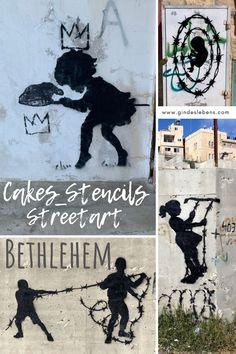 Die Werke von Banksy sind weit über die Grenzen bekannt, aber auch weitere Künstler haben sich in Bethlehem verewigt, so wie Cakes_stencils. Wir haben den Künstler interviewt und stellen euch seine Werke vor. Diese sind sehr ausdrucksstark und sollen die soziale Ungerechtigkeit und die politischen Konflikte aufzuzeigen. Mehr dazu auf www.gindeslebens.com #Streetart #Bethlehem Tromso, Bethlehem, Cake Stencil, Stencils, Naher Osten, Banksy, Gin, Highlights, Character