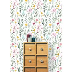 Bungalow Rose Livingon Removable Watercolor Cute Flowers L x W Peel and Stick Wallpaper Roll Wallpaper Panels, Wallpaper Roll, Peel And Stick Wallpaper, Wallpaper Murals, Wallpaper Installation, Wall Murals, Nursery Wallpaper, Bathroom Wallpaper, Bathroom Curtains