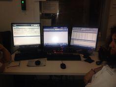 Consolas de trabajo del equipo de urgencias.