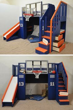 Deciding to Buy a Loft Space Bed (Bunk Beds). – Bunk Beds for Kids Bunk Beds With Stairs, Cool Bunk Beds, Kids Bunk Beds, Bed Rails, Indoor Playhouse, Build A Playhouse, Backboards For Beds, Sports Bedding, Modern Bunk Beds