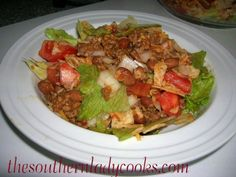 I have made this salad for years and my entire family loves it.  This salad is a meal by itself.  I usually serve it with cornbread. 1 cup shredded cheddar cheese 1 large onion 1 …