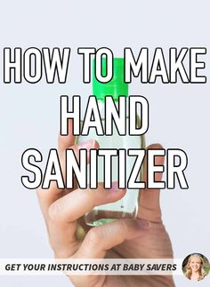DIY hand sanitizer recipe - This easy homemade hand sanitizer has 2 ingredients and takes 2 minutes! Learn how to make hand sanitizer and kill all the germs and viruses that are worrying you. DIY Purell thats safe for the whole family.