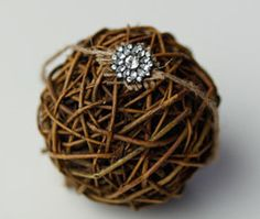 Rustic Jeweled Newborn Headband by CrownedCreationsShop on Etsy