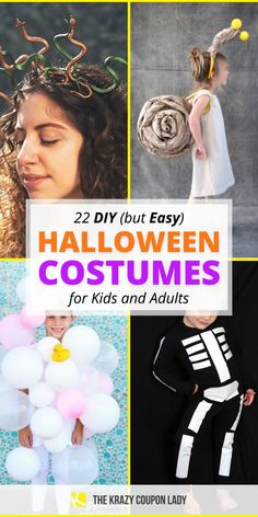 Cheap and easy Halloween costumes are the way to go for DIY Halloween costumes over costumes you can buy at your local party store. Why spend a ton of money on a Halloween costume when all you need is a few everyday materials to make your own? These DIY costumes are easy and inexpensive- perfect for a last-minute kids Halloween costume idea or the procrastinating adult who never got around to making a costume party choice! Diy Halloween Costumes For Kids, Diy Costumes, All You Need Is, Free Things To Do, Party Stores, Diy Craft Projects, Saving Tips, Diy For Kids, Easy Diy