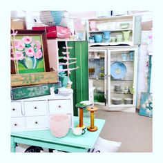Our booth at Antiques of Winfield. -Jen's Fresh Vintage!