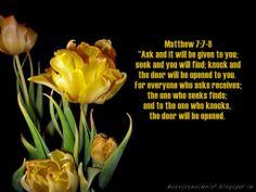 Christian Wallpapers: Bible Verse Wallpaper - Matthew 7:7-8