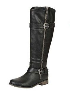 Black is always in style. Here are our great Harper Black Boots that are just below the knees. These boots will definitely keep your legs nice and warm and while still looking in style. They have a so