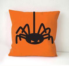 Halloween Pillow Cover Spider pillow cover by MATTlovehandmade