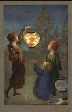 martinmas    Lantern postcards by Sybil Barham (1877 -1950)