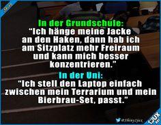 Konzentration? Was ist das? :P #Studentenleben #Campusleben #Studium #Jodel #Sprüche #Humor Cool Pictures, Funny Pictures, Funny Jokes, Hilarious, Learn German, Stuff And Thangs, School Memes, Cringe, Funny Cute