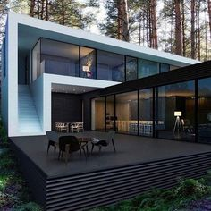 9,500 отметок «Нравится», 36 комментариев — Architecture Dose (@architecturedose) в Instagram: «#architecturedose Beauty in the woods - Yes or no? ☺️ House by M2 Architectural Group  _______…»