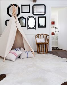 Love a tee pee for the littles.