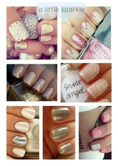 Goodness gracious. I am such a girl. SPARKLE Nail Color Ideas * Lou What Wear