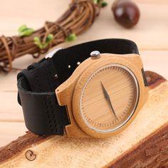 Vintage Wooden Dial Watch Quartz Watches Men Women Couple Watch Black Pointer Qt