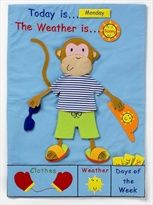 Monkey Weather Chart -- I like the animals that you dress up. Wyatt had a frog last year and the kids loved dressing him everyday.