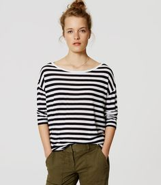 Thumbnail Image of Primary Image of Striped Drop Shoulder Tee