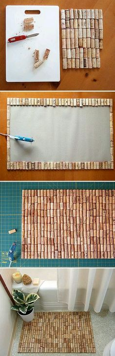 I like this as a cork board instead of a bath mat