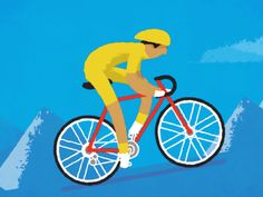 Cyclist Mechanics designed by Fraser Davidson for Cub Studio. Motion Design, Illustrations, Graphic Illustration, Zone Animation, Cool Pictures Of Nature, Funny Caricatures, Bike Photo, Cartoon Gifs, Bicycle Art